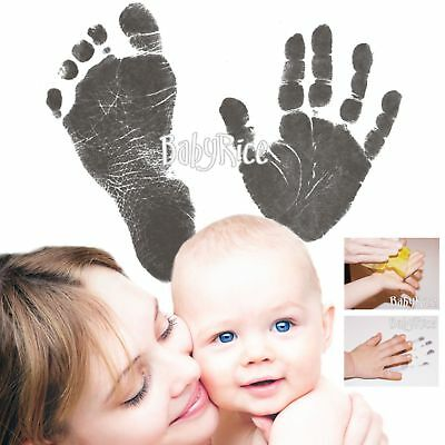 New Baby Prints Kit Easy Handprints Footprints Inkless Wipe Keepsake Hands Feet
