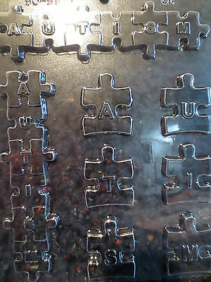 AUTISM LETTERS MOLD Chocolate Candy Soap oreo cookies puzzle piece awareness