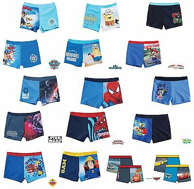 Boys CHARACTER Swim SHORTS Swimming TRUNKS Age 2 3 4 5 6 7 8 9 10 11 12 Years