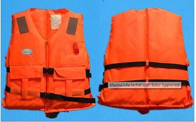 SOLAS Life Jacket Swimming Boating Surfing Sailing Fishing Whistle 80 KG 75N