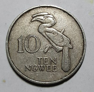 1982 10 Ngwee Zambia Coin