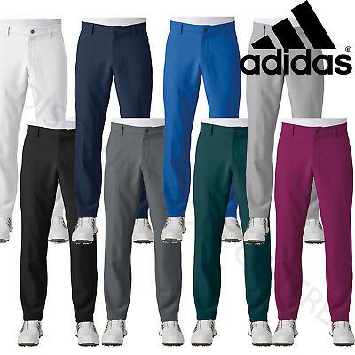 Adidas Golf 2017 Ultimate 3-Stripe Water Resistant Trousers Mens Slim Fit Pants