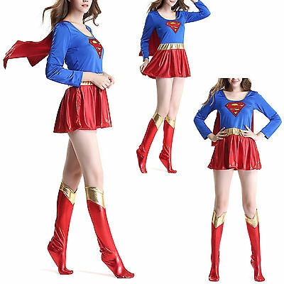 Super-girl - Vestito Carnevale Donna Supergirl Woman Cosplay Costume SUGIR01