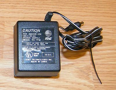 Genuine AT&T (TP-M) 9V 780mA 10W 60Hz AC Adapter Power Supply Charger **READ**