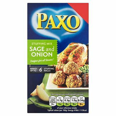 Paxo Sage and Onion Stuffing Mix - 85g - Pack of 4 (85g x 4)