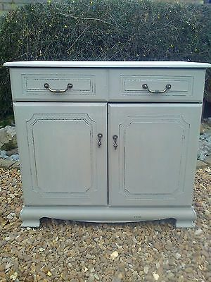 Shabby Chic Painted Twin Door Cupboard/Drawer/Storage in Spearmint Green