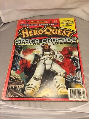 White Dwarf #134 Space Crusade & HeroQuest Special. Classic Issue!