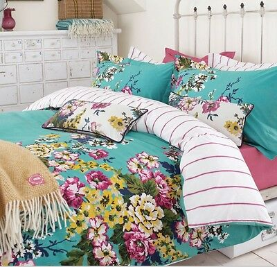 Joules Cambridge Floral Double Duvet And 2 Pillowcases  New