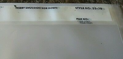 11x Print File Storage Sheets 35-7B for 35mm Film Negatives 7 Strips per Sheet