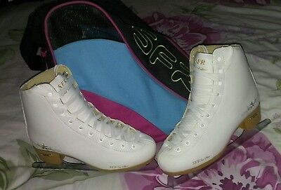 Womens Used SFR White Skates Gold Edition Size 6