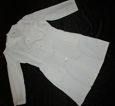 Halloween Costume Women Dr Lab Coat or Nurse Dress White Sz Large  # 1208