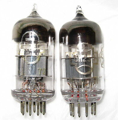 Matched Pair 6N23P Audiophile Tubes Reflector (ECC88, 6DJ8, 6922) NOS, Tested
