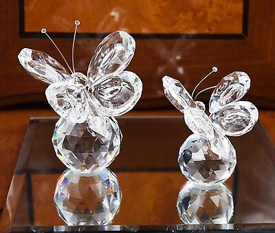Crystal Cut Butterfly Swarovski Elements Wedding / Birthday Gift & Gift Box
