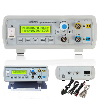 Mohoo FY2202S 2MHz Dual Channel DDS Function Signal Generator Sine Square Wave S