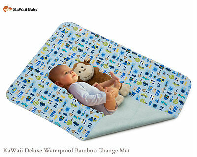 KaWaii Baby Deluxe Bamboo Waterproof Change Pad, Change Mat -Canadian Seller