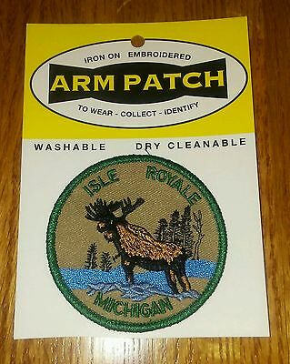 Iron on Arm Patch ~ Isle Royale NP