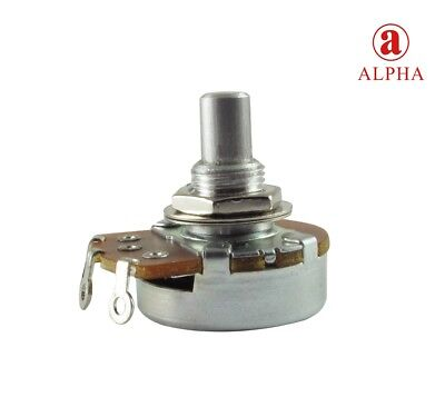 "Alpha Solid Shaft Potentiometer 3/8"" Bushing, 24mm Wide, Choice Of Resistance"