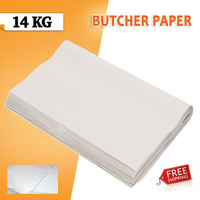 14kg Butchers White Packing Paper 600 x 840mm Food Grade Free Shipping!