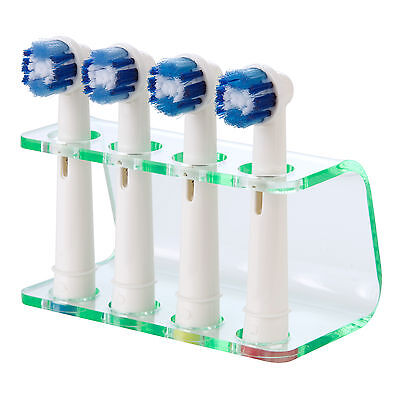 Glass Effect Electric Toothbrush Holder, fits Oral B Toothbrush Heads, by Seemii