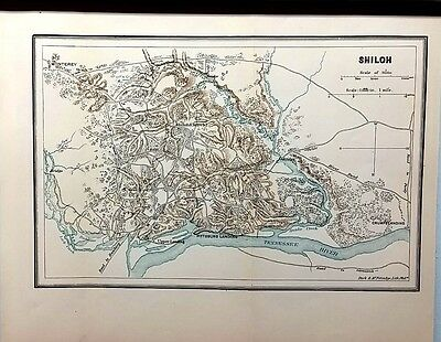 1876 Map of the Battle of Shiloh