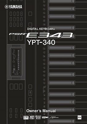 YAMAHA  PSR E343 / YPT-340 Owner's Manual in English