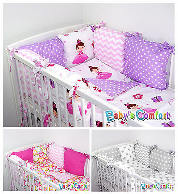 Baby's Comfort 8 PCS BABY BEDDING with PILLOW BUMPER for cot / cotbed