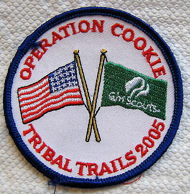 Operation Cookie Tribal Trails 2005 Girl Scouts Patch