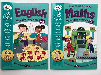 Home Education Easy Learning English Maths Bundle of 2 Workbook Children Age 8-9