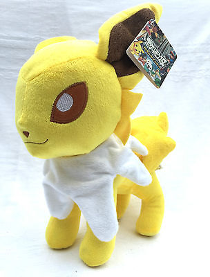 Nintendo Pokemon Jolteon Eeveelution Soft Plush Toy Doll Figure Card Game GO