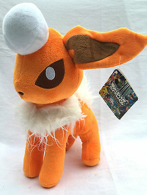 Nintendo Pokemon Flareon Eeveelution Soft Plush Toy Doll Figure Card Game GO