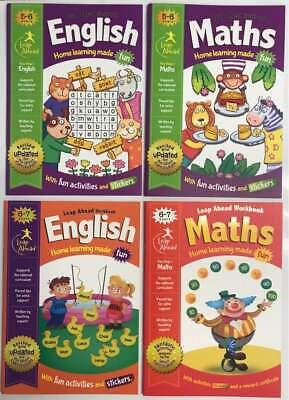 LeapAhead Preschool Learning English & Maths Workbook Pack Ages 4-5 Years New