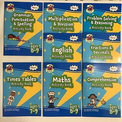Primary School Home Learning Maths English Workbook Pack Kids Age 7-8 Year 3 KS2
