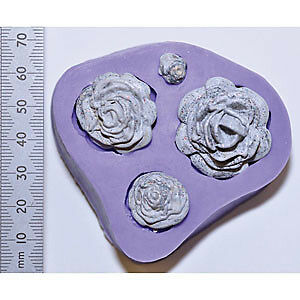 NEW Wow! Wow! Silicone Mould Rose Quartet