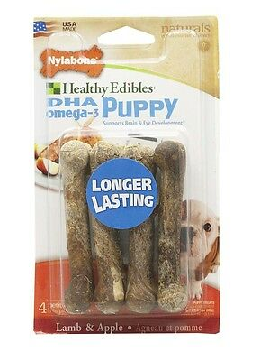 Nylabone Healthy Edibles Puppy Lamb & Apple Blister Card Dog Chew Toy Petite 4ct