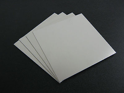 "4 pieces - 1/8"" .125 Thick  Aluminum Sheet 5052 H32  -    6"" x 6"""