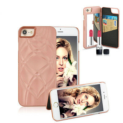 Mirror Leather Wallet Credit Card Holder Flip Case Cover For iPhone 6 6S 7 Plus