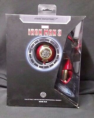 Marvel THS901 Iron Man 3 Mark XLII Professional PC Gaming 3D Headset Headphones