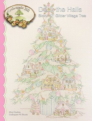 DECK THE HALLS GARLAND BLOCK 7 EMBROIDERY PATTERN From Crabapple Hill Studio NEW