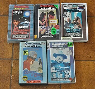 5 VINTAGE ROADSHOW HOME VIDEOS MIXED LOT             - VHS Video