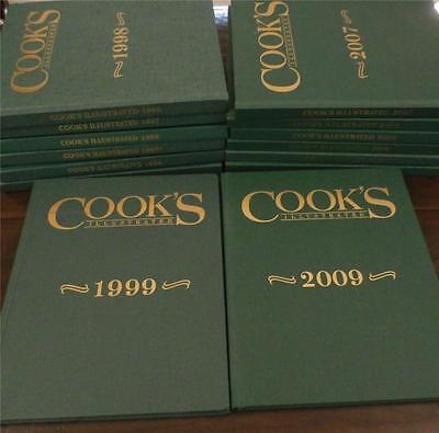 COMPLETE: 23 COOK'S ILLUSTRATED Hardcover books: 1993 through 2015; Clean copies