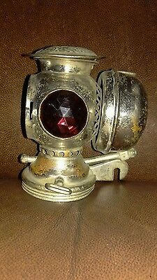 Antique Badger Brass Co. Solar Bicycle Motorcycle Lamp Light Headlight Parts