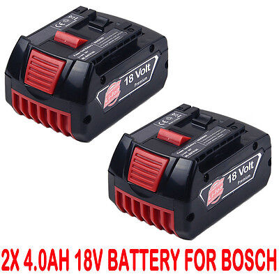2x 18V 4.0AH Li-ion Battery For Bosch BAT609 BAT618 17618 25618-01