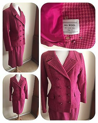 Vintage 1950's Wiggle Suit 100% Wool Size 14