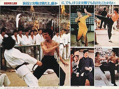 BRUCE LEE 1979 JPN PICTURE CLIPPINGS 2-Sheets(4-Pages) #TJ/N
