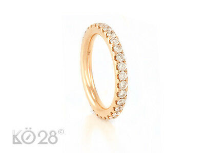 Ring Memoire made by Menze 750/- Roségold 32 Brillanten 0,97 ct., Gr. 51 (20649)