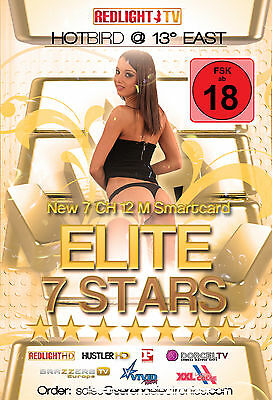 Redlight Elite 7 Stars Viaccess Card 12 Monate Hotbird 13° FSK 18