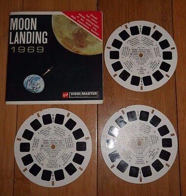 Nasa Apollo 11 Moon Landing 1969 Gaf View Master Reels Rare Space Set B663