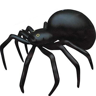 German Trendseller® - Spinne Aufblasbar ┃ 91 cm ┃ Dekoration ┃ Horror