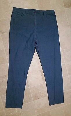 QUIKSILVER Blue PANTS CHINOS Casual Mens 36 Slim Fit