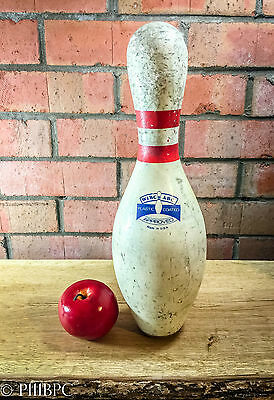 Vintage Retro Ten Pin Bowling Pins American Amflite II WIBC ABC Approved x 10